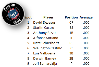 Opening Day Lineup