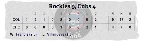Cubs 5-14 line