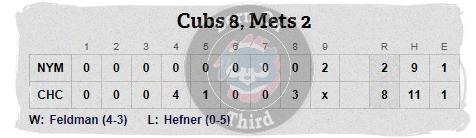 Cubs 5-18 line