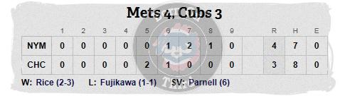 Cubs 5-19 line