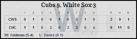 Cubs 5-29 line