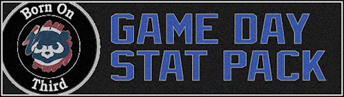 Game Day Stat Pack Header