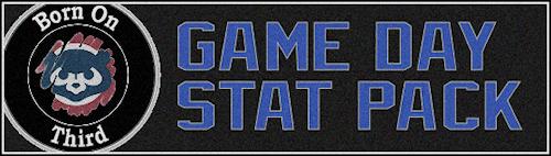 Game Day Stat Pack Header
