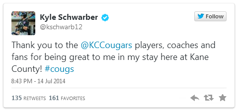 Schwarber Tweet