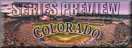 Series Preview ROAD Rockies